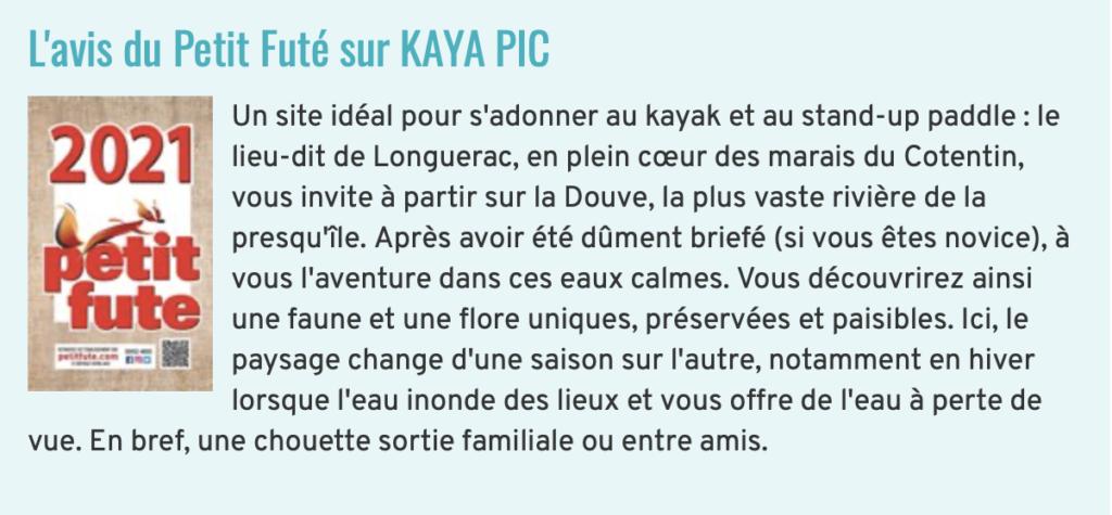L'avis de Petit Futé sur Kaya Pic